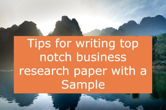 how to write business research paper