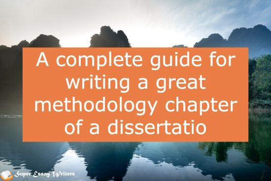 how to write methodology chapter